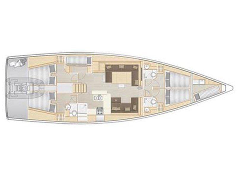 Hanse 588 (5+1 cab) (Jasmine) Plan image - 2