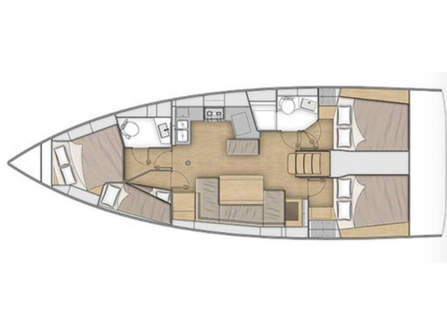 Oceanis 40.1 (Gea) Plan image - 2