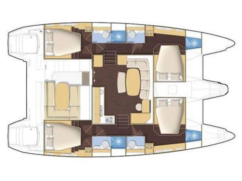 Lagoon 420 (Free Seas I) Plan image - 3