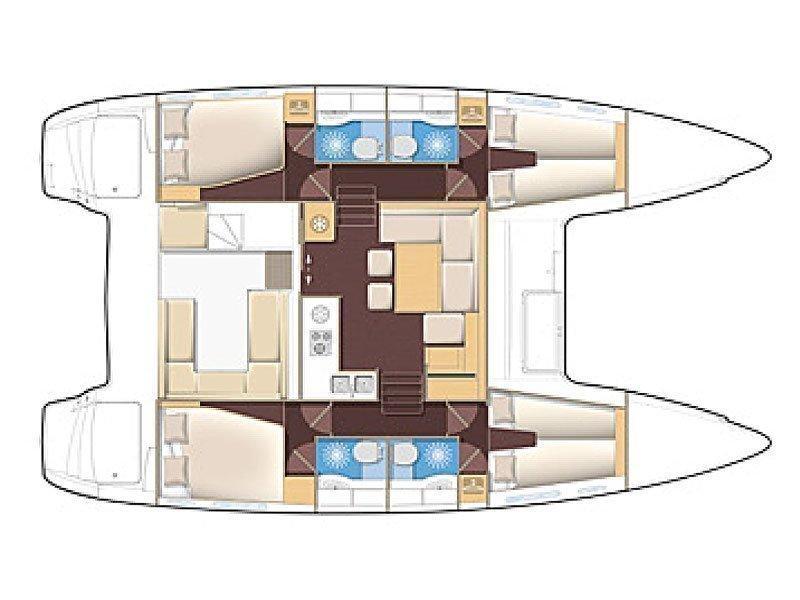 Lagoon 400 S2 (CACIARDA ) Plan image - 5