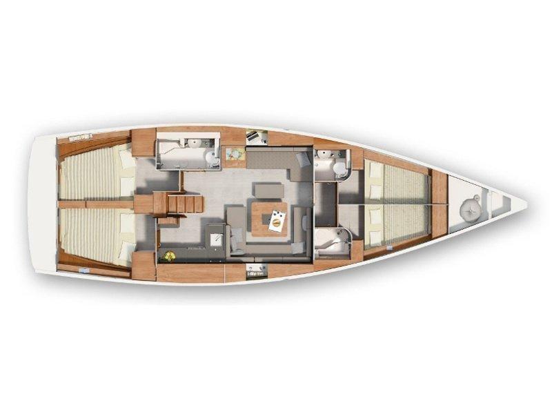 Hanse 455 (Scarlett) Plan image - 2