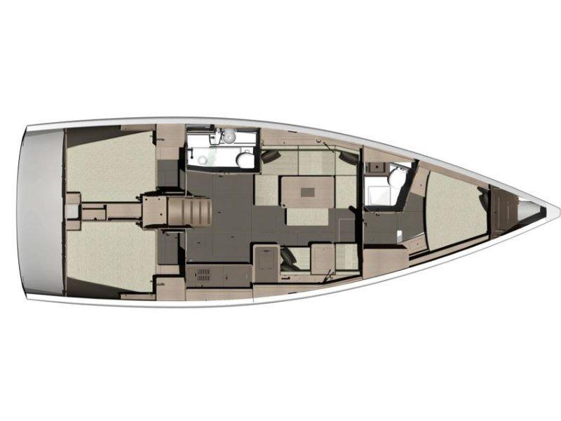 Dufour 412 Grand Large (Iliana) Plan image - 3