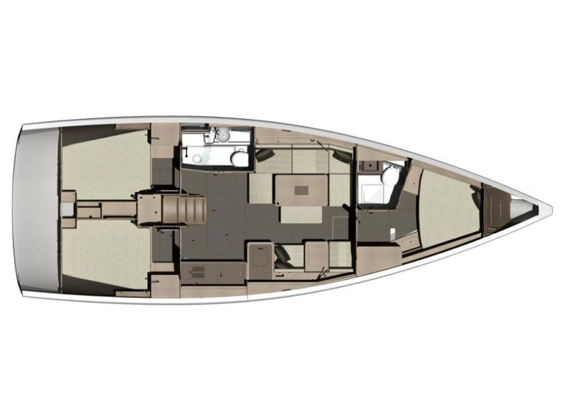 Dufour 412 Liberty (Nika) Plan image - 1