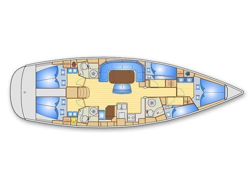 Bavaria 50 Cruiser (Romana) Plan image - 3