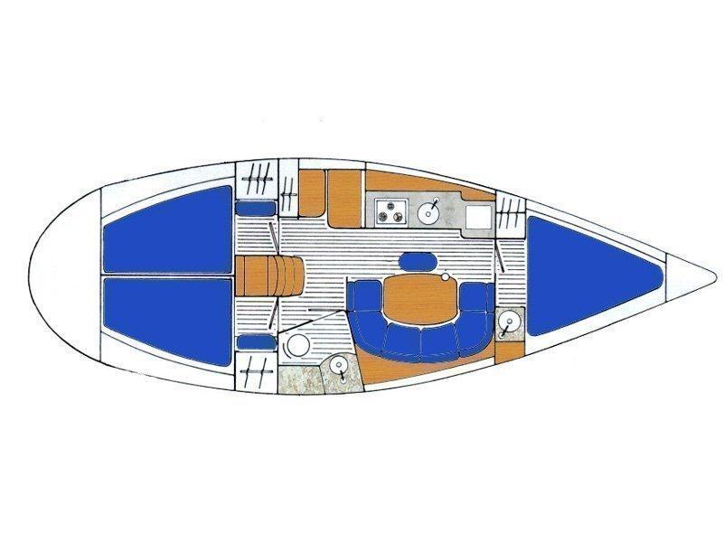 Sun Odyssey 33 (Tomy) Plan image - 1