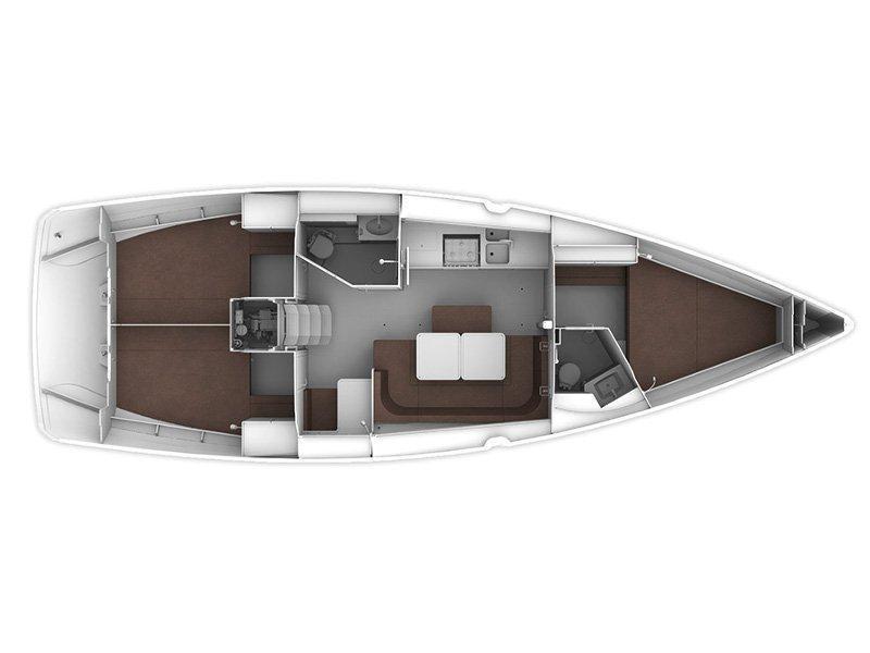 BAVARIA C 41 BT (PATRIZIA) Plan image - 2