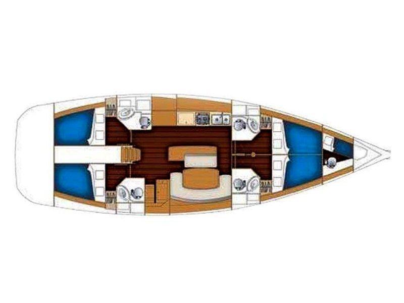 Cyclades 50.4 (Mohito) Plan image - 2