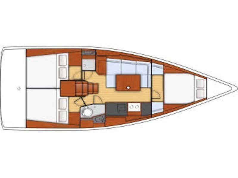 Oceanis 38 (Adriana) Plan image - 10