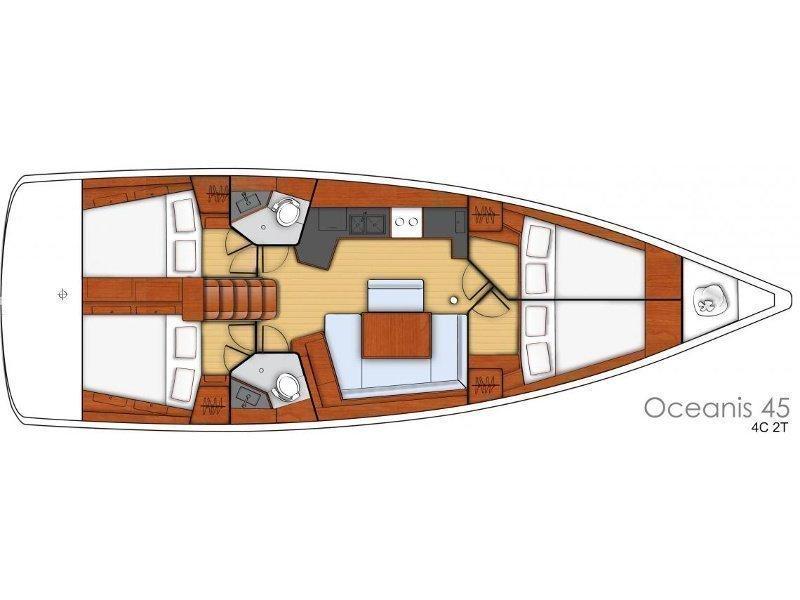 Oceanis 45-4 CABINS (MELANIE) Plan image - 2