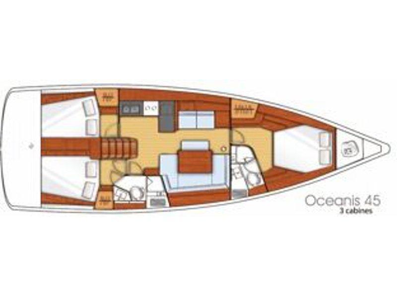 Oceanis 45 (BARBARELLA) Plan image - 3