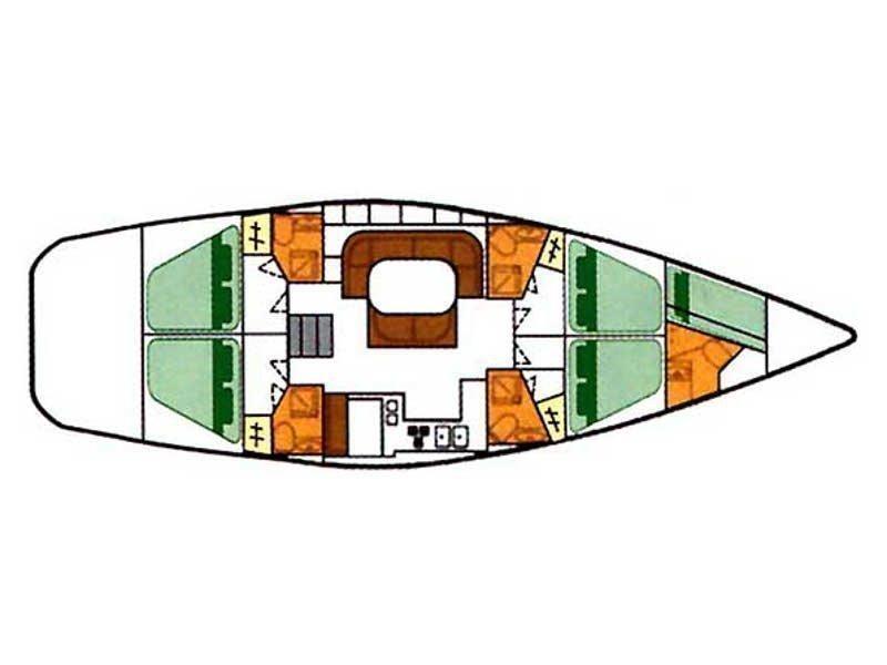 Beneteau Oceanis 500 (Lua) Plan image - 9