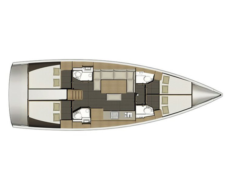 Dufour 460 Grand Large (SULACO (aircondition, generator, blue hull)) Plan image - 20