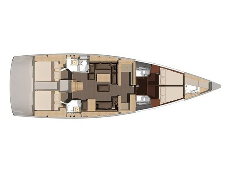 Dufour 56 Exclusive (KAZKA - fully equipped) Plan image - 18