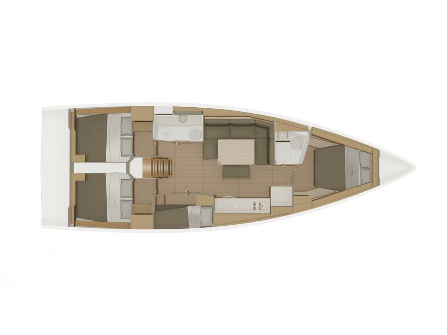 Dufour 430 Grand Large (Tiamat) Plan image - 12
