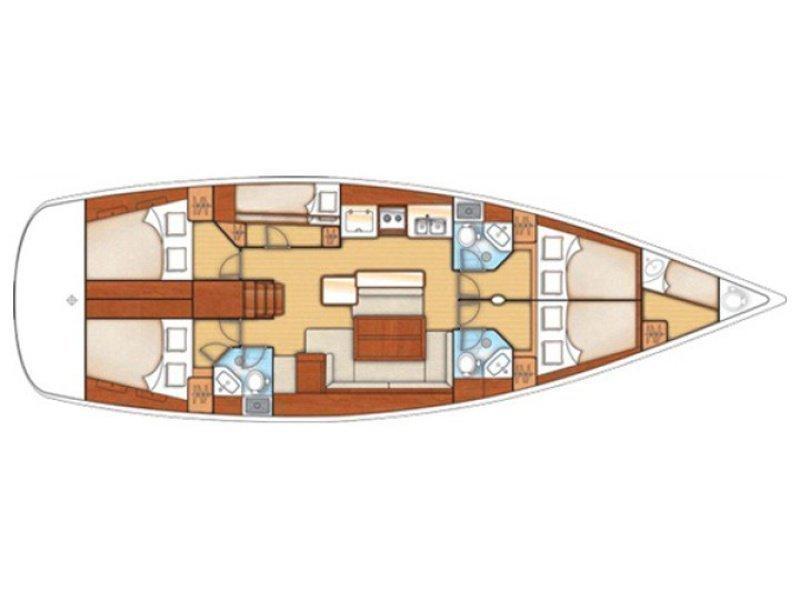 Oceanis 50  (Elise) Plan image - 9