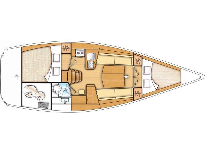 Beneteau First 35 (Thetis) Plan image - 1