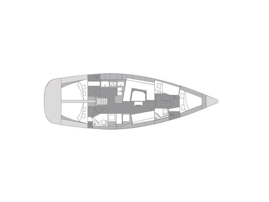 Elan 45 Impression (Sea Cloud 3) Plan image - 2