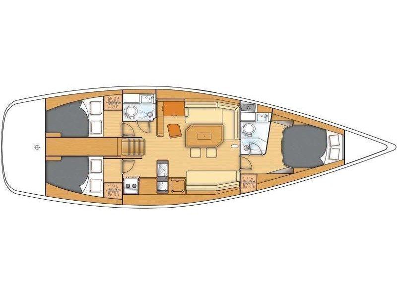 Beneteau First 45 (Galata) Plan image - 2