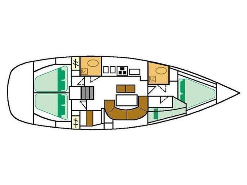 Oceanis 411 (Almak) Plan image - 1