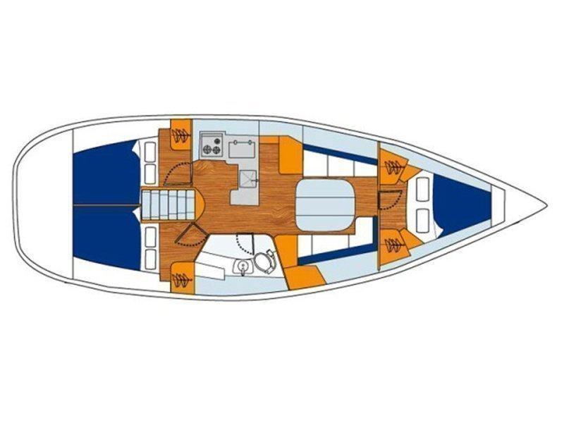 Oceanis 373 (Mirfak) Plan image - 3