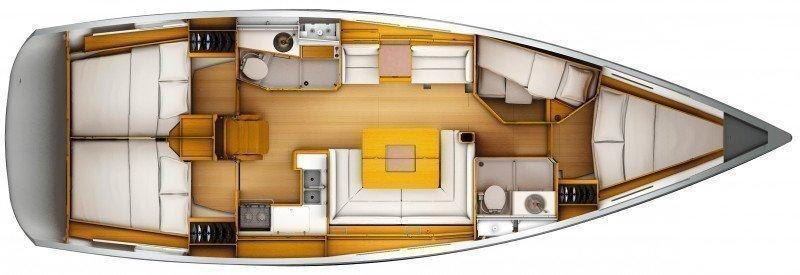 Sun Odyssey 449 (Pižulot) Boat layout - 3