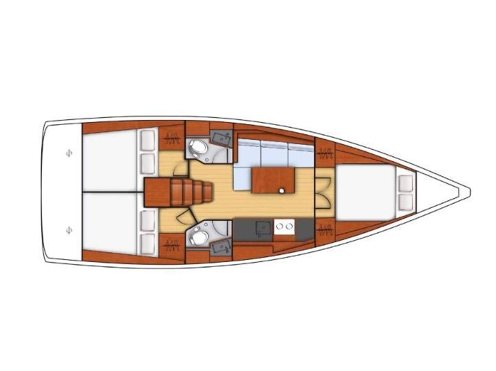 Oceanis 38.1 (Eos) Plan image - 2
