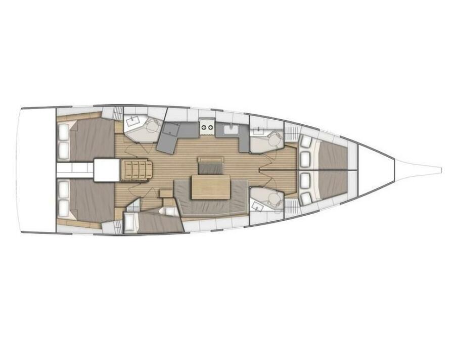 Oceanis 46.1 (Alke) Plan image - 1