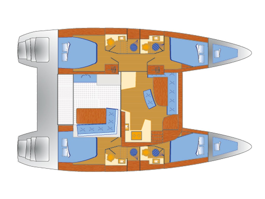 Lagoon 42 (Sunshine) Plan image - 7