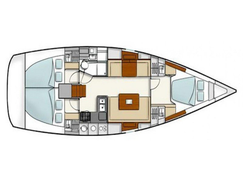 Hanse 400 (Kumatos Anthos) Plan image - 7