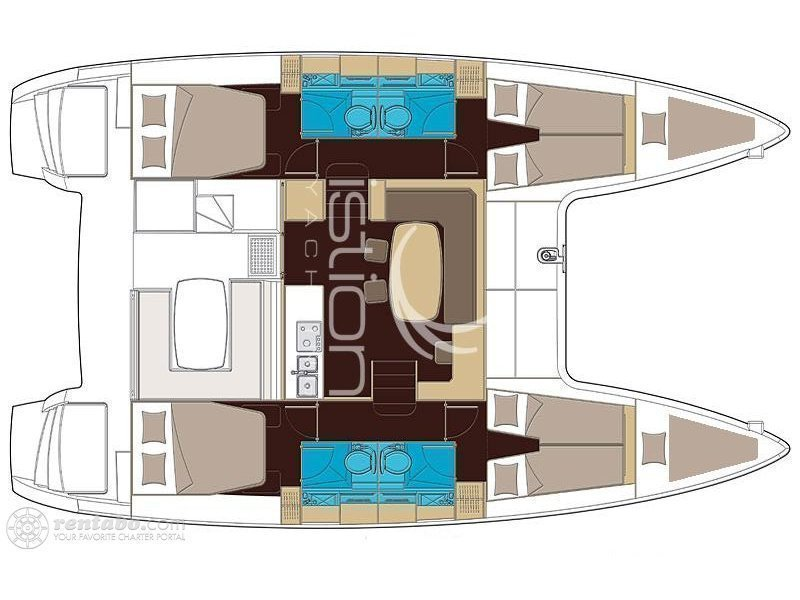 Lagoon 42 (Cucuncio) Plan image - 3