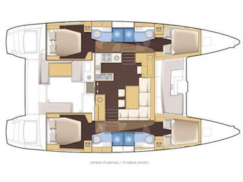 Lagoon 450 (Dugongo) Plan image - 3