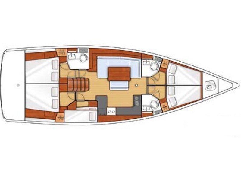 Oceanis 48 (Hesperus) Plan image - 1