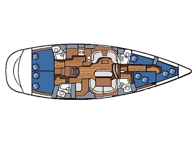 Sun Odyssey 54 DS (MACCHIATO) Plan image - 2