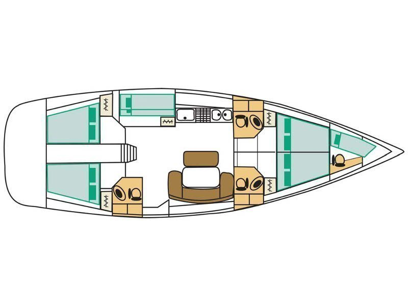 Cyclades 50.5 (Lady Kiki II) Plan image - 2