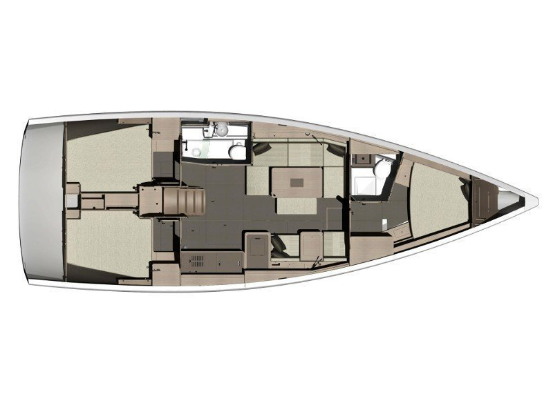 Dufour 412 Grand large (Athena) Plan image - 1