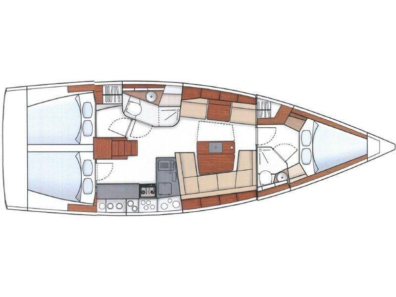 Hanse 415 (Marina Spirit One) Plan image - 3