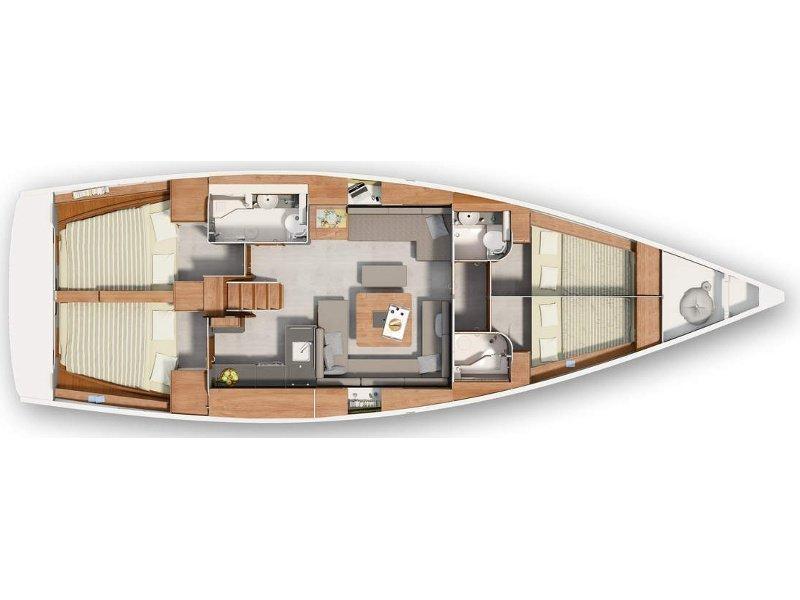 Hanse 455 (Marina Spirit Four) Plan image - 1