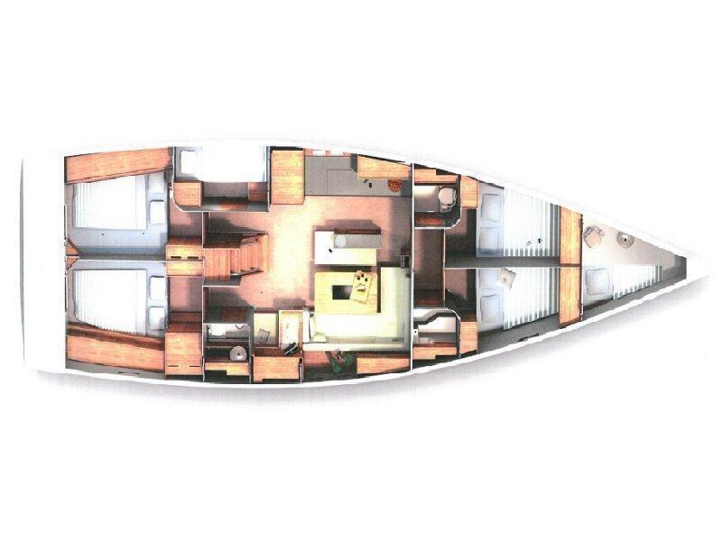 Hanse 505 (Marina Estrella One) Plan image - 4