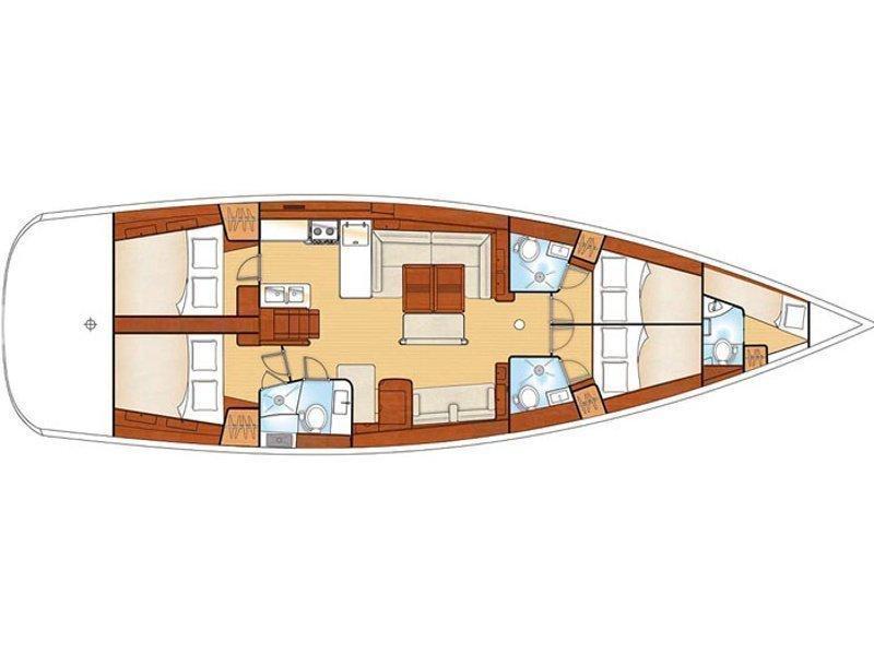 Oceanis 54 (Fos) Plan image - 4