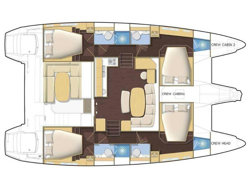 Lagoon 421 (Nirvana AC Watermaker Gen + elegant pack) Plan image - 3