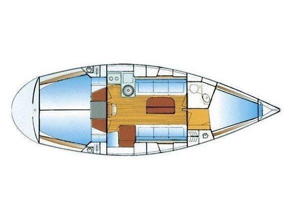 Bavaria 34 (Siesta) Plan image - 1