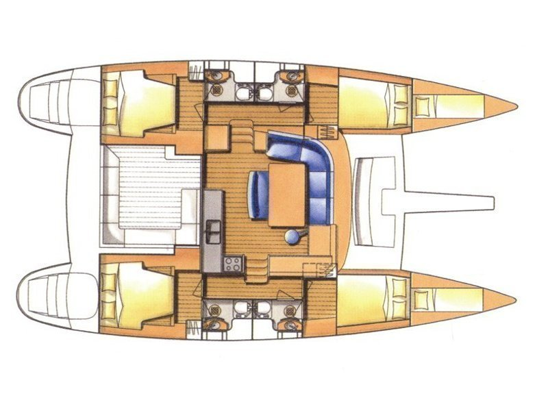 Lagoon 440 (Manatee - NEW SAILS, SOLAR PANEL, TOTAL REFIT 2016/17) Plan image - 2
