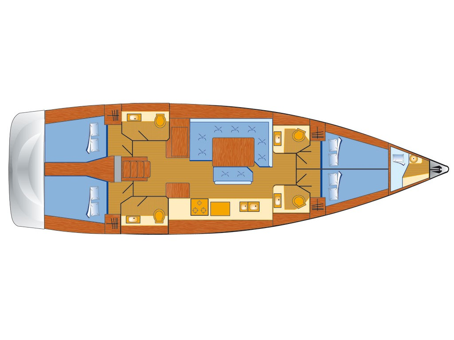 Sun Odyssey 519 (Alea) Plan image - 22