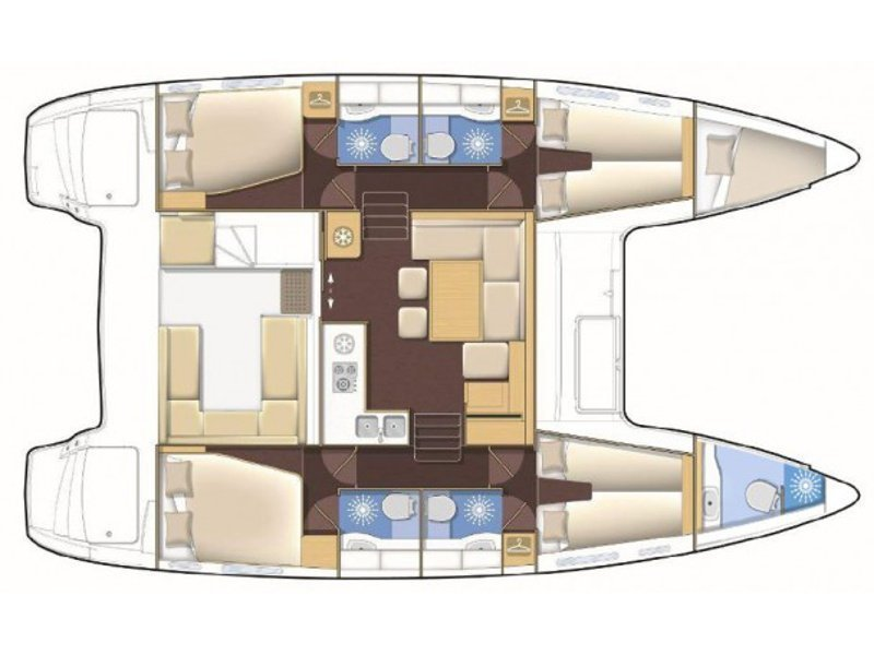Lagoon 400 S2 (Tangerine Dream) Plan image - 1