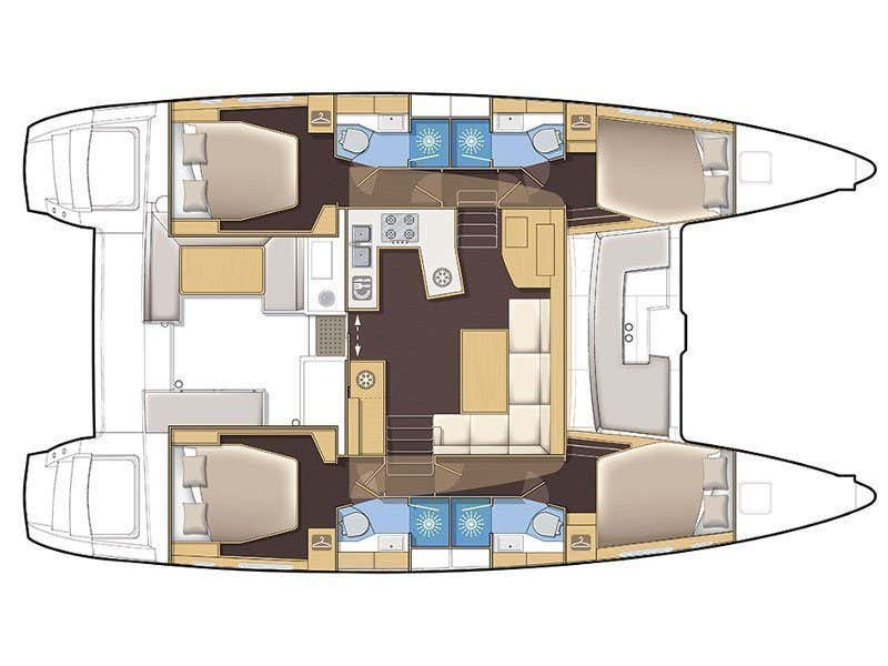 Lagoon 450 F (PRETTY ALICE AC all + generator + OB 20HP) Plan image - 75