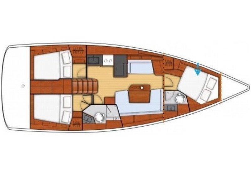 Oceanis 41.1 (NIRIIS) Plan image - 3