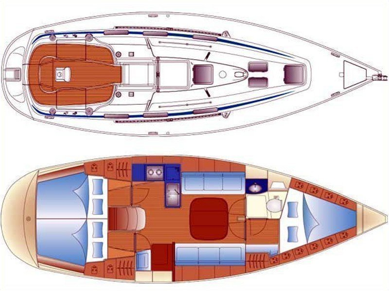 Bavaria 36 (EC- 36-05-G) Plan image - 1