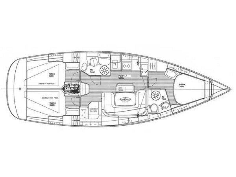 Bavaria 39 Cruiser (EC- 39B-07-G) Plan image - 1