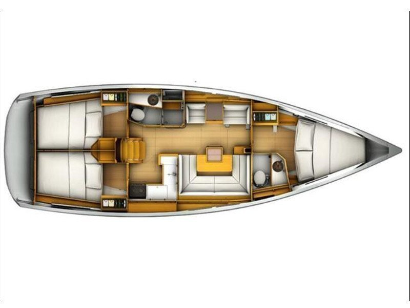 Sun Odyssey 409 (EC- 409-11-G) Plan image - 1