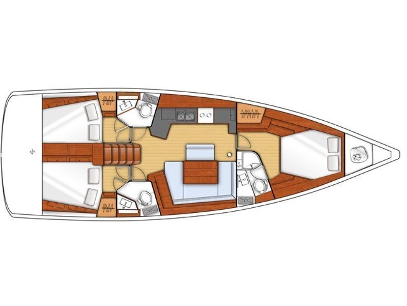 Oceanis 45/3 Cbs (EC- 453-12-G) Plan image - 1